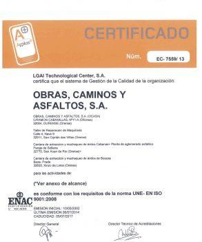 ISO 9001-CALIDAD_OCASA